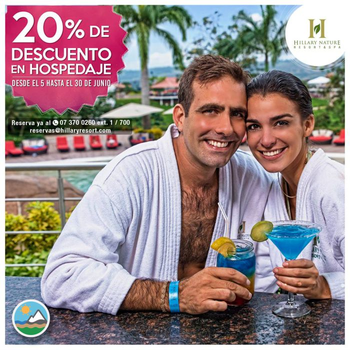 ​HILLARY NATURE RESORT & SPA - 20% de descuento
